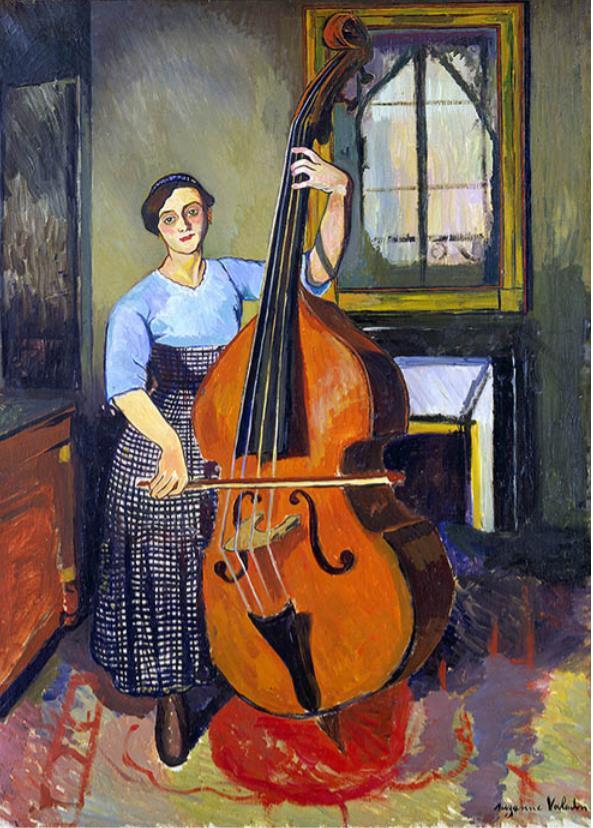 シュザンヌ・ヴァラドン 《コントラバスを弾く女》 1908年 ASSOCIATION DES AMIS DU PETIT PALAIS, GENEVE