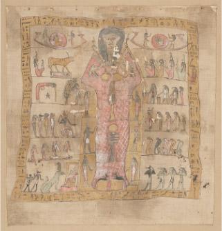 死者を描いたミイラの覆い布 縦104cm x 幅98cm<br>ローマ支配時代、後1~2世紀頃 © SMB / S. Steiß