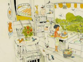 村上勉画「おおきな きが ほしい」原画 1971年 偕成社