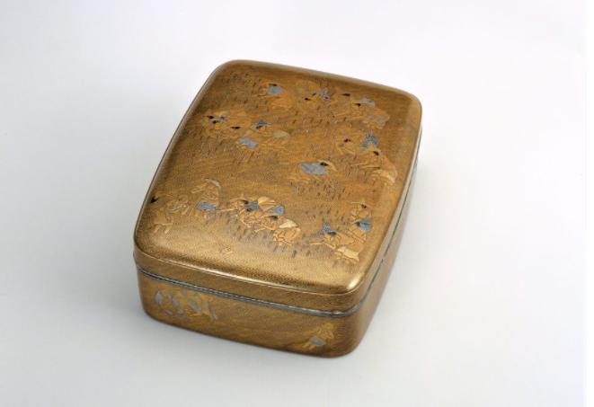 《田植図蒔絵螺鈿料紙箱》 江戸時代 17-18世紀