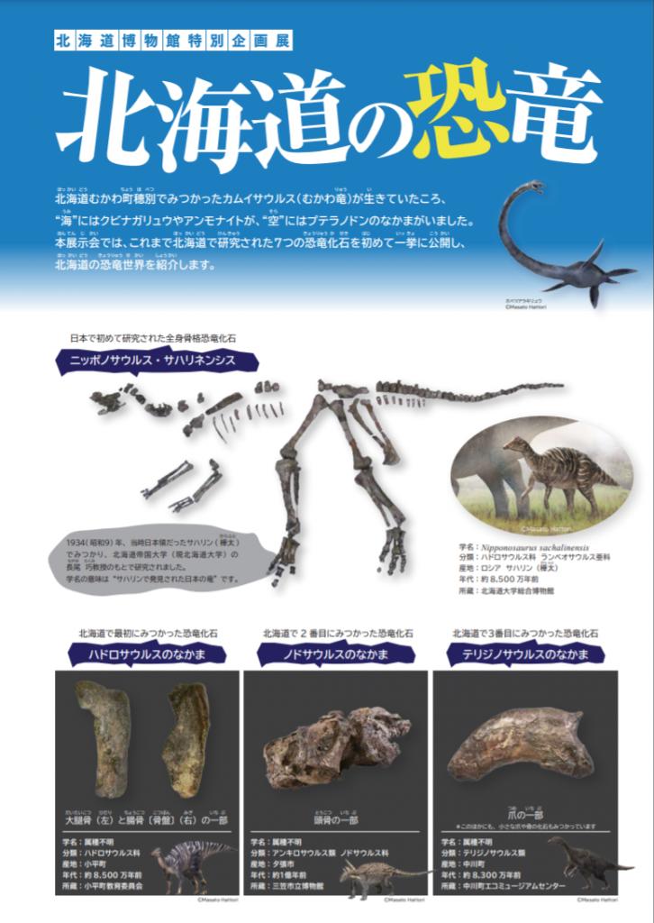 「特別企画展「北海道の恐竜」(2021年2月12日〜3月14日開催)の、オンライン公開」北海道博物館