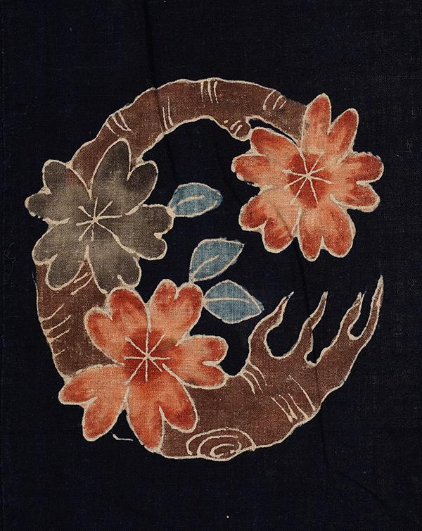 芹沢銈介収集 丸紋尽くし筒描夜具地(日本 部分)