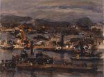 画像|吉岡憲《大波止》1951年 油彩・カンヴァス