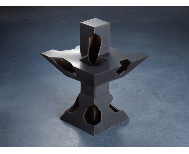 「記憶の塔 2021-B」34.5×34.5×h46.5cm