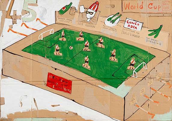 日比野克彦《PRESENT SOCCER》1982年 岐阜県美術館