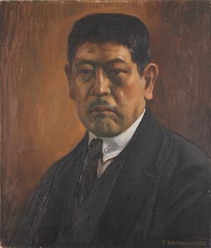 鹿子木孟郎《自画像》1928年