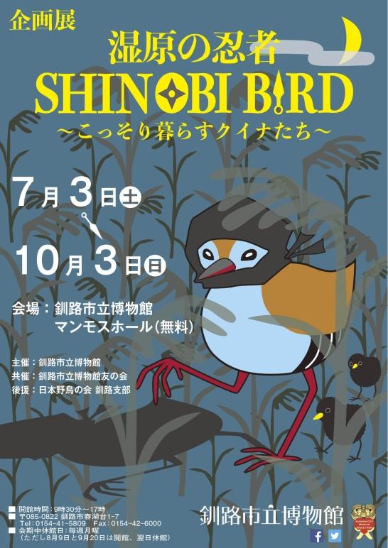 企画展「湿原の忍者 SHINOBI BIRD ~こっそり暮らすクイナたち~」釧路市立博物館