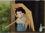「火垂るの墓」セル付き背景画 © 野坂昭如/新潮社, 1988