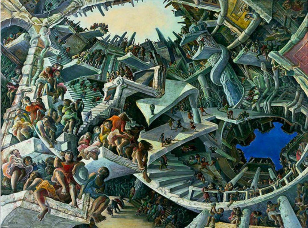 遠藤彰子《みつめる空》1989 年、相模原市蔵