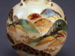 重要文化財 野々村仁清《色絵吉野山図茶壺》江戸時代 17世紀