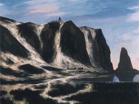 羽生輝《北の岬(知床)》1989(平成元)年 北海道立近代美術館蔵