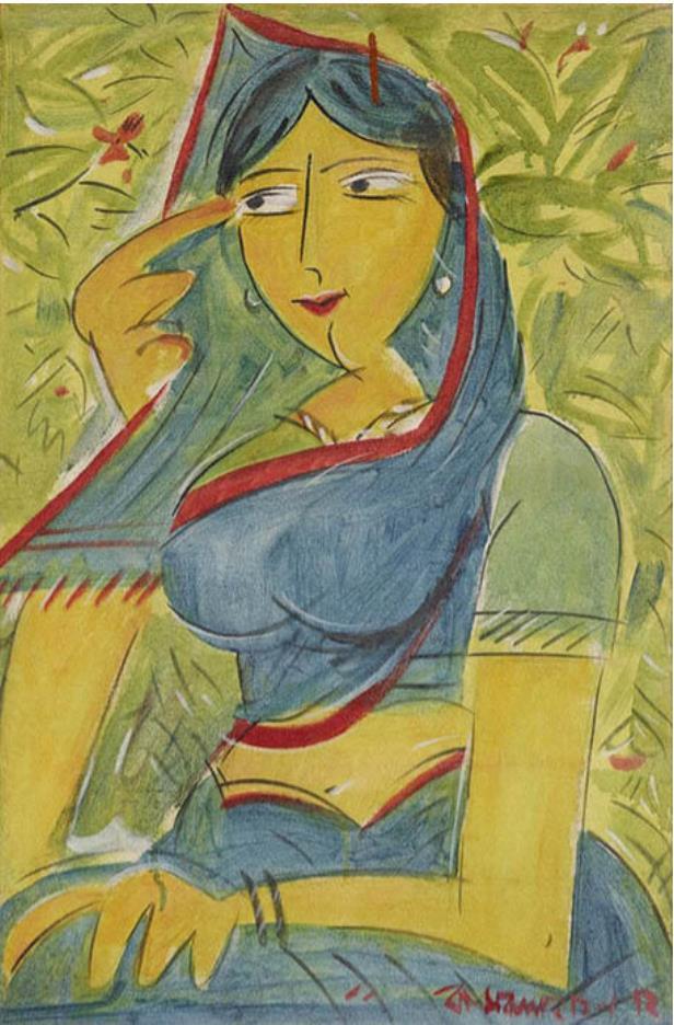 カムルル・ハサン《女性》1972年