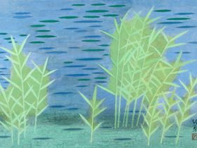 小野竹喬 「池」 1978年 (前期)