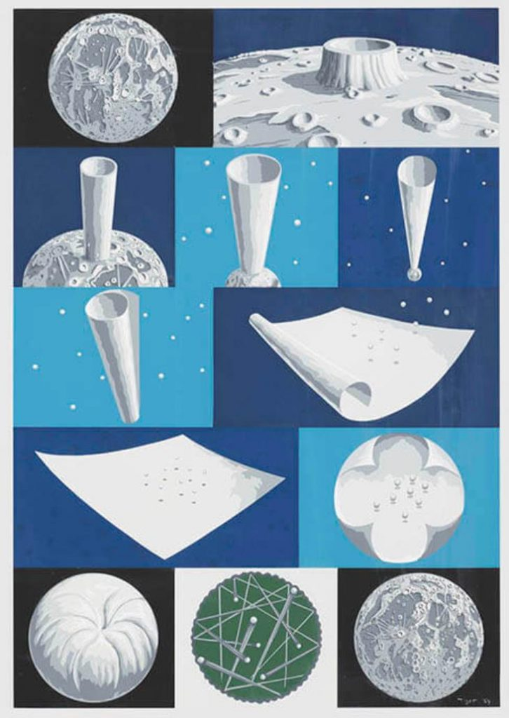 《The Moon Grows to the Moon》 1981年 うらわ美術館、埼玉県立近代美術館蔵