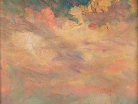 高木背水《紅海の夕焼》 油彩・キャンバス 郡山市立美術館蔵