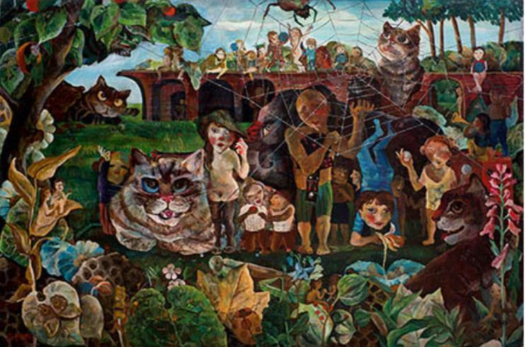 遠藤彰子《楽園の住人たち》1974 年、作家蔵