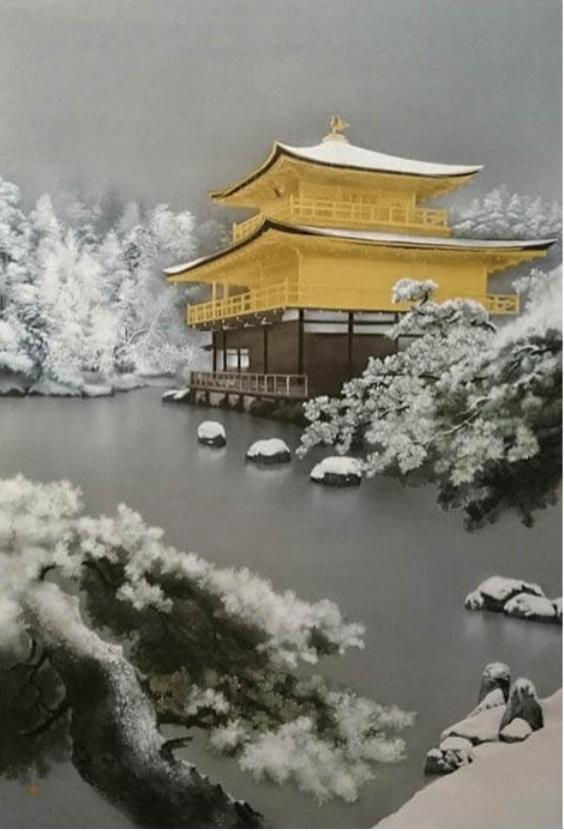 中川脩《金閣寺雪景》2021年