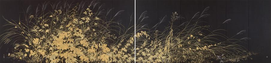 川端龍子《草の実》1931年、大田区立龍子記念館蔵