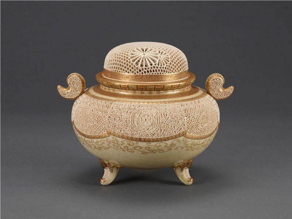 十三代 沈寿官「菊桐透彫香炉」大正6年 三の丸尚蔵館所蔵