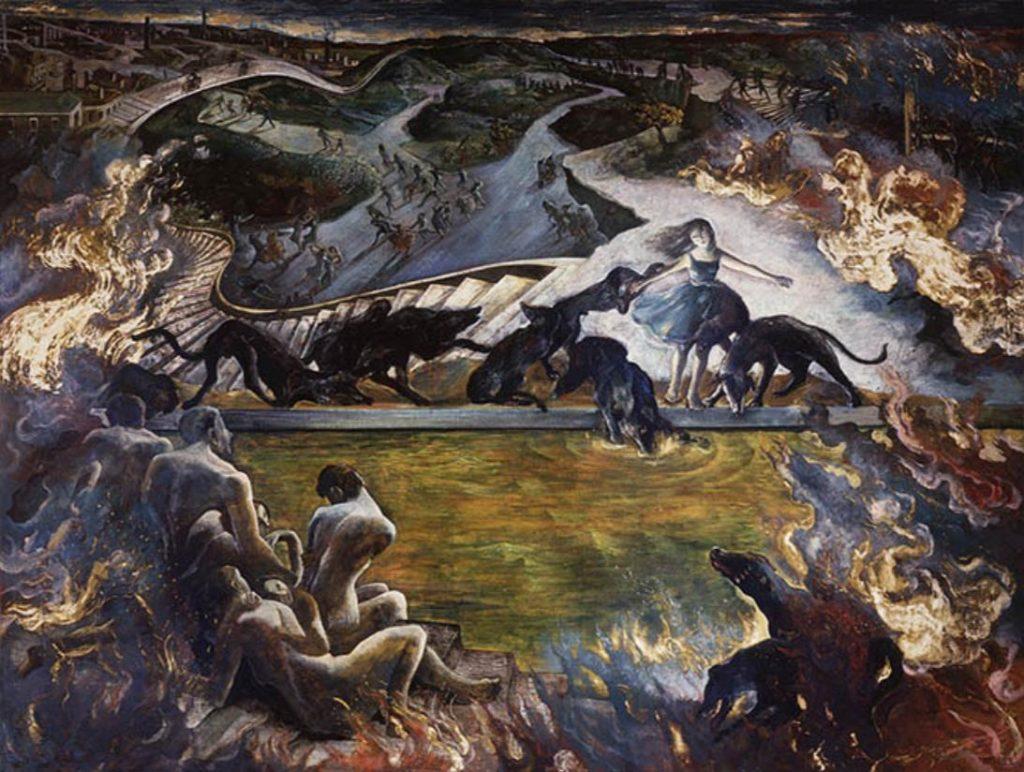 遠藤彰子《黄昏の笛は鳴る》1991 年、作家蔵