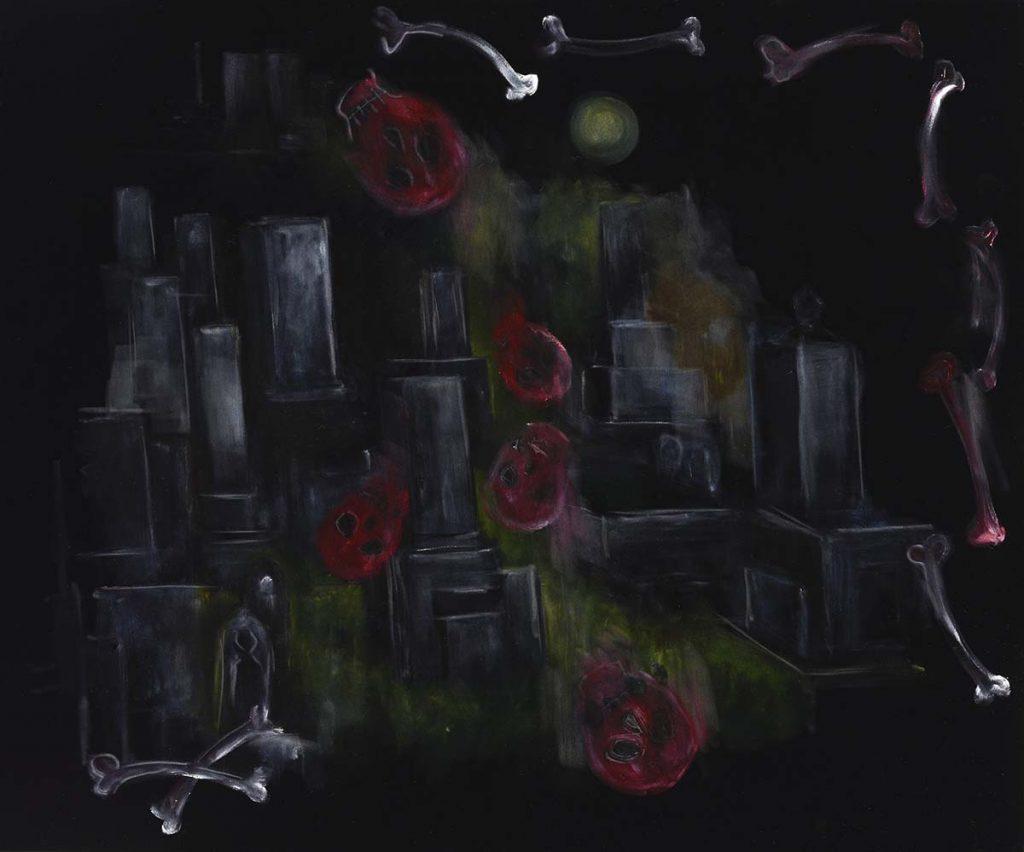 《霊骨》 2000年 横尾忠則現代美術館蔵