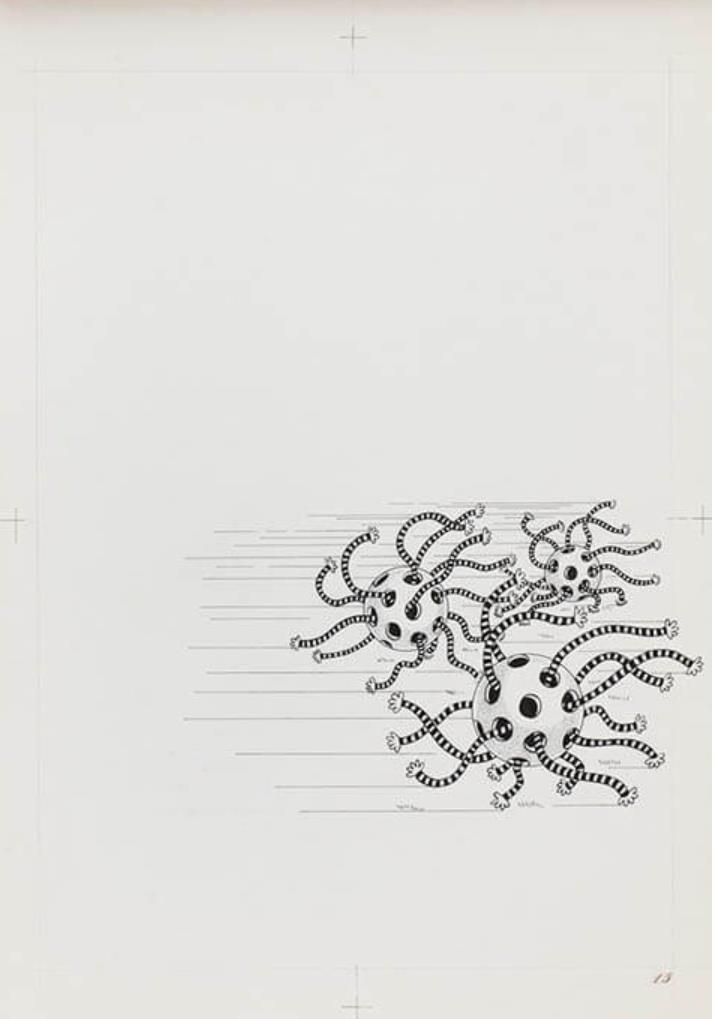 『Tiger Tateishi』p.15原画 1968年 courtesy of ANOMALY