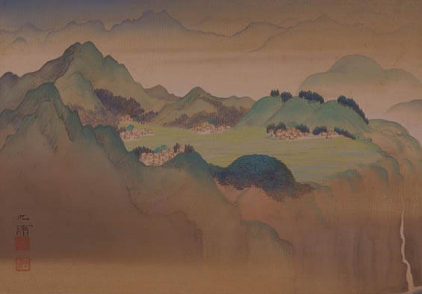 野田九浦≪瑞彩≫のうち「高千穂」大正13年 三の丸尚蔵館所蔵