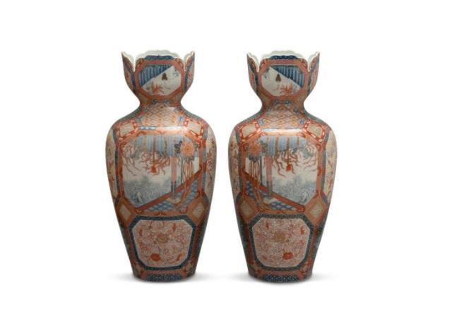 《色絵桜樹文耳付注器》 1700~1730年代 佐賀県立九州陶磁文化館
