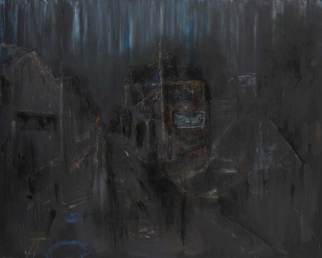 《黒いY字路 1》 2010年 作家蔵(横尾忠則現代美術館寄託)