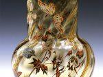 ガレ「蝶文エナメル彩花器」 高さ25cm 1880年頃制作 税込3,850,000円