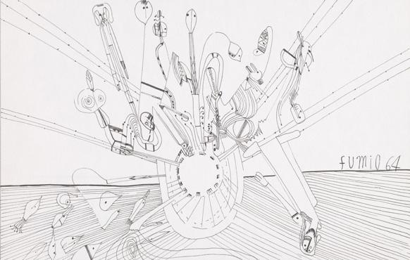 《無題》 インク,紙 20.0×31.1cm 1964 photo: 石戸晋