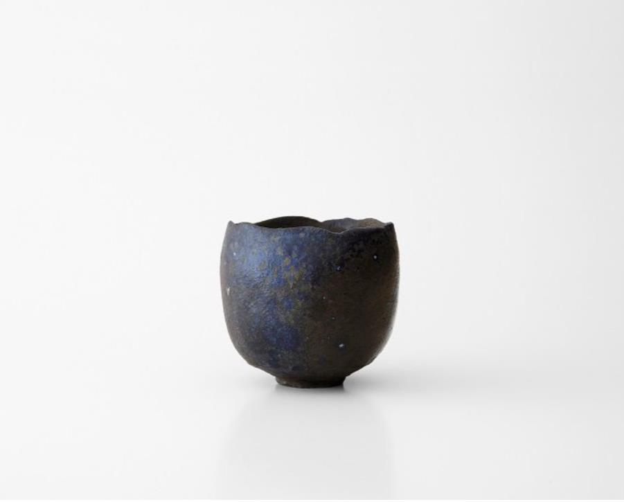 蒼変黒茶盌 サイズ:径12.5x高さ10.9㎝