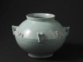青磁花瓶「シルクロード」1987年