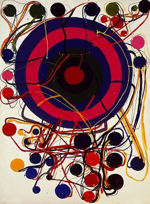 田中敦子《ターゲット》1962年 © Kanayama Akira and Tanaka Atsuko Association 目黒区美術館蔵