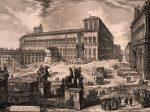 ジョヴァンニ・バッティスタ・ピラネージ《クイリナーレ広場のディオスクーリ像(『ローマの景観』より)》 石橋財団アーティゾン美術館蔵