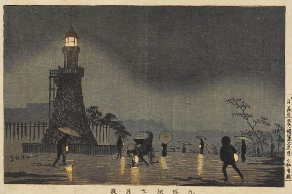 《九段坂五月夜》大判錦絵 明治13年(1880)