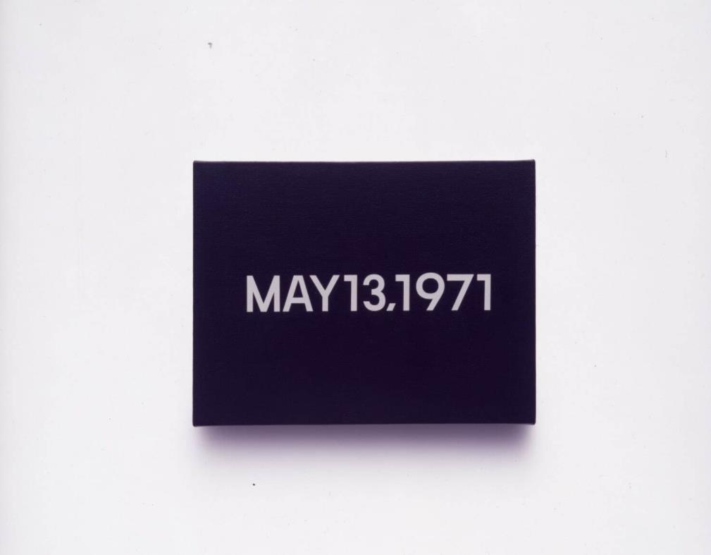 河原温《MAY 13, 1971 Todayシリーズ(1966-2013)より》1971年 アクリル、カンヴァス「コレクション展:絶対現在」豊田市美術館