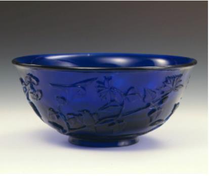 藍色花鳥文鉢(中国)