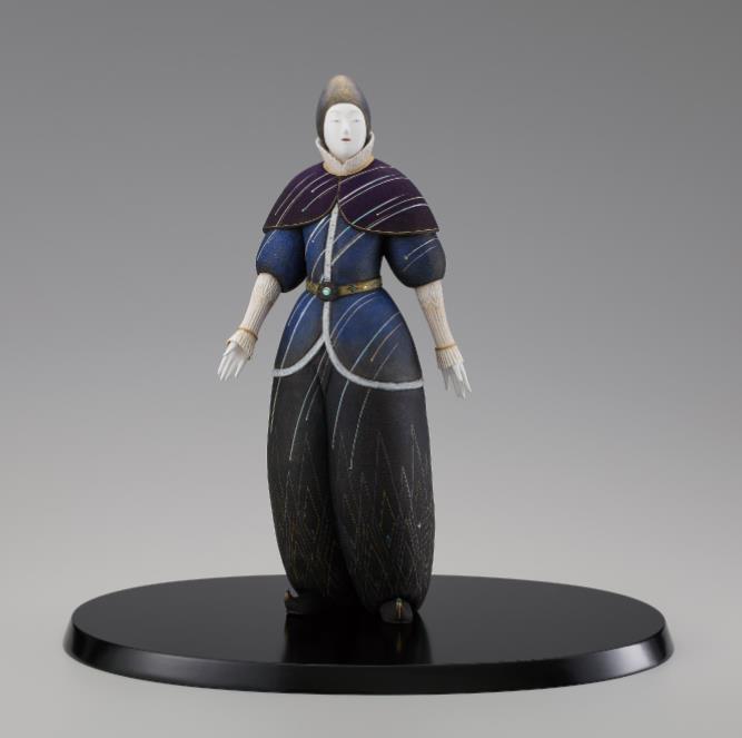 日本工芸会奨励賞  人形= 陶彫彩色「星河」 (とうちょうさいしき「せいが」)  中村信喬