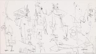 《無題》 インク,紙 20.0×36.0cm 1963 photo: 石戸晋