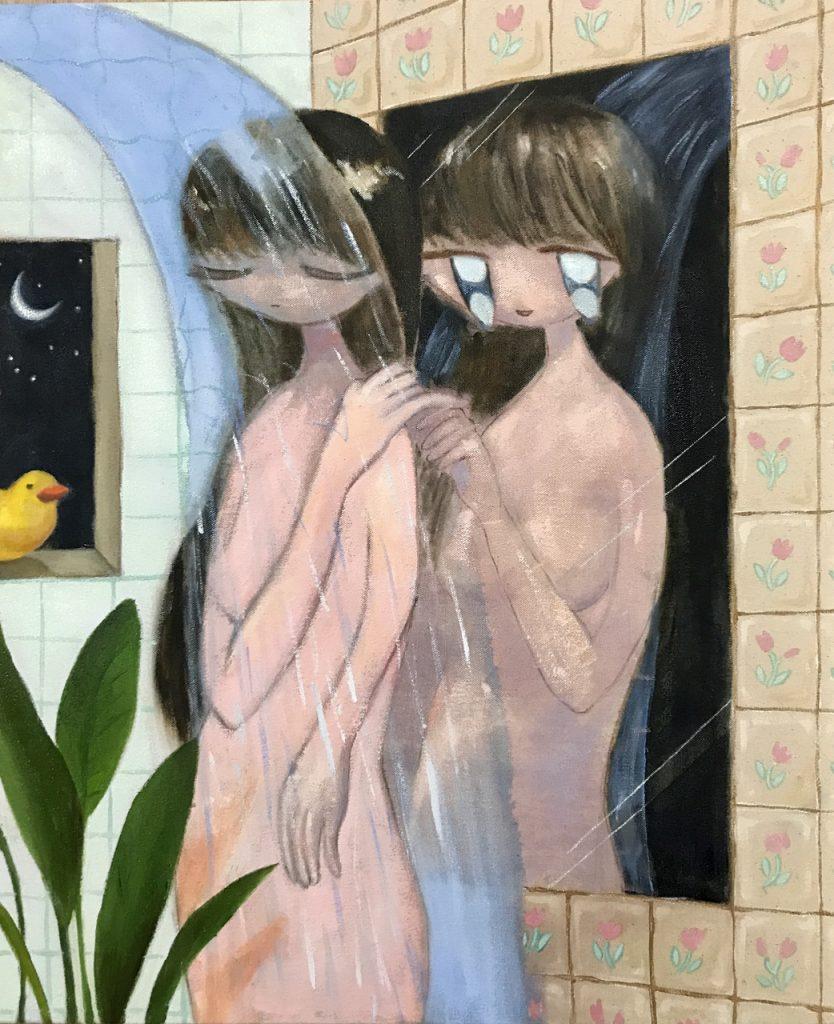 《お風呂のおばけ》 2021年 キャンバスに油彩 606mm×500mm