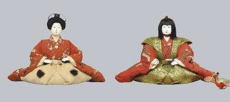 大正天皇、初参内の拝領人形 初参人形 長絹袴姿(左)[横浜人形の家蔵] 裃姿(右)[東京国立博物館蔵 Image:TNM Image Archives]