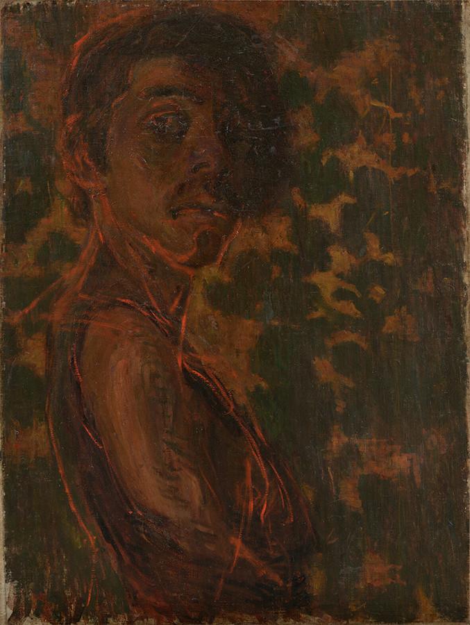 青木繁《自画像》1903年 石橋財団アーティゾン美術館蔵