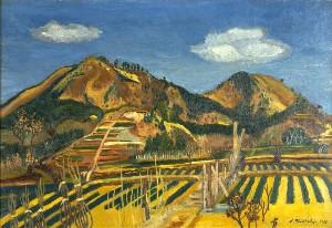 「伊豆風景」 昭和10年 油彩・キャンバス