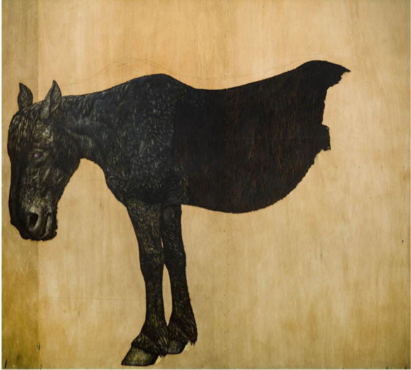 神田日勝《馬(絶筆・未完)》1970年 神田日勝記念美術館蔵