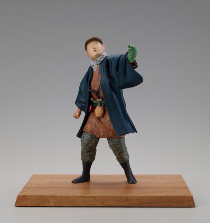 高松宮記念賞  人形= 木芯桐塑和紙貼「蒼天」 (もくしんとうそわしばり「そうてん」)  高田和司
