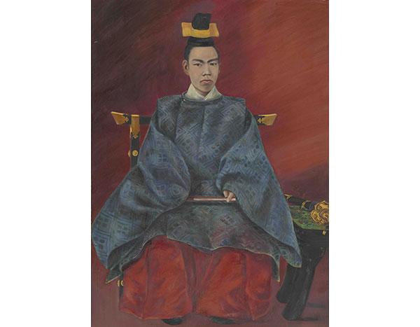 明治天皇油絵御肖像 宮内公文書館蔵 明治天皇の写真を原図に描いた油絵