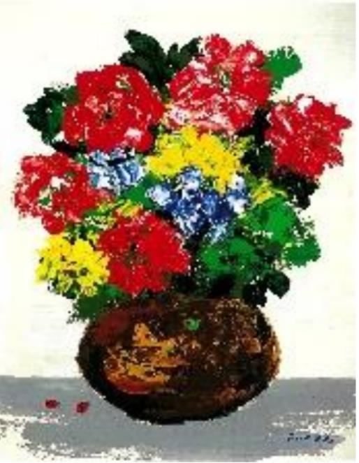 福沢一郎《花とてんとう虫》1974 年 糖業協会蔵