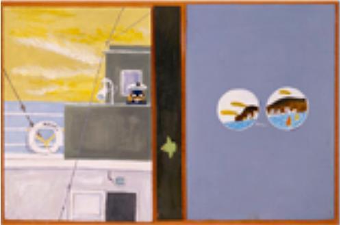 《北杜夫著 『マンボウぼうえんきょう』表紙原画》 1973年 個人蔵