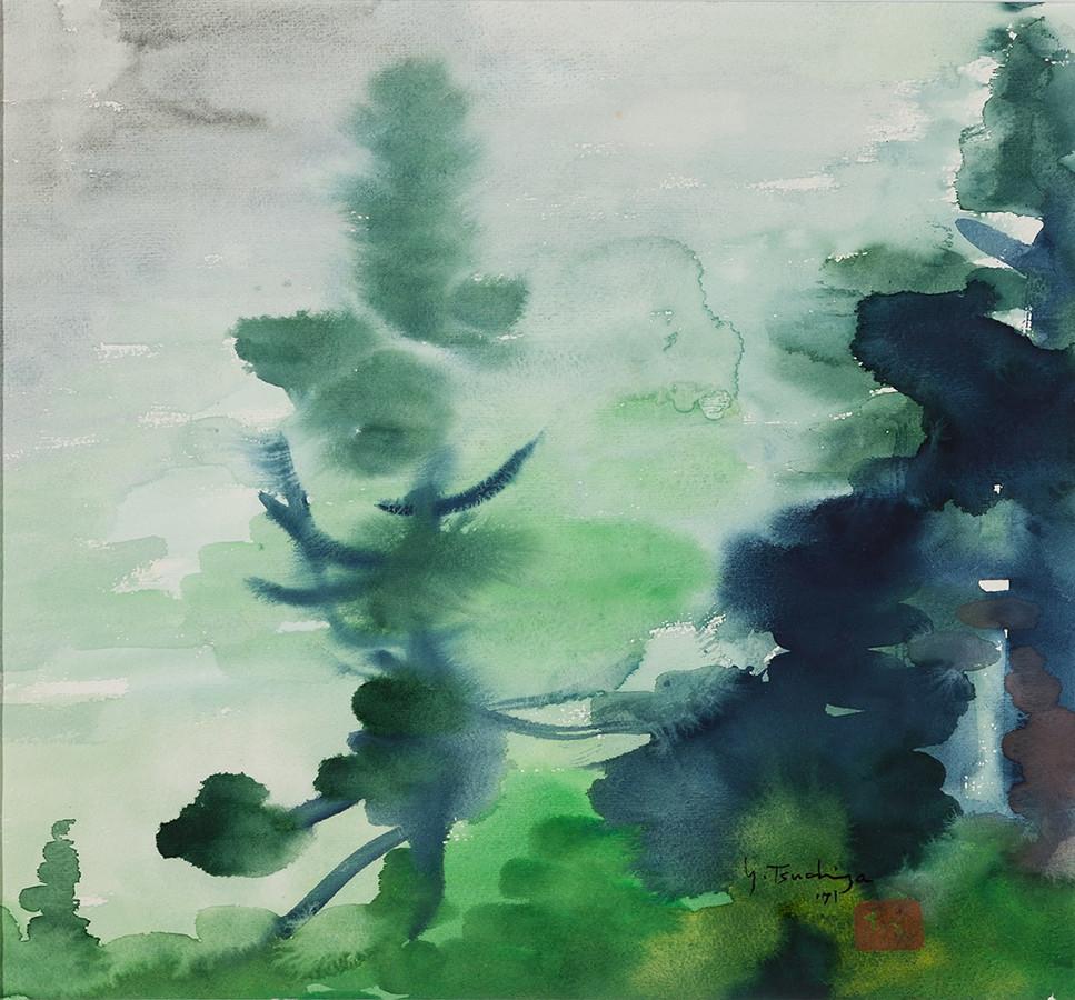 土屋幸夫《箱根 ʻ71》 1971年 目黒区美術館蔵